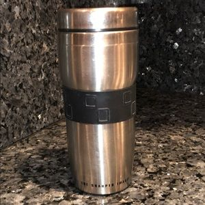 The Sharper Image Stainless Steel Coffee Tumbler
